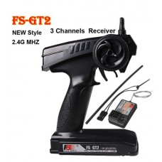 FlySky FS-GT2 2.4GHz 3 Channel Radio Transmitter For RC Car Boat