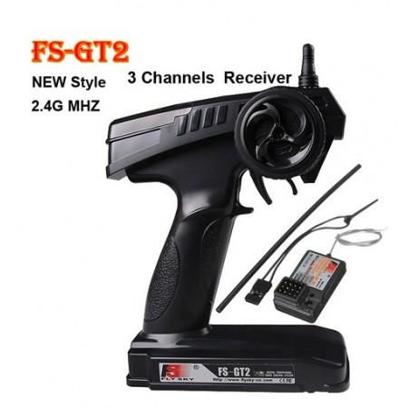 FlySky FS-GT2 2 4GHz 3 Channel Radio Transmitter For RC Car
