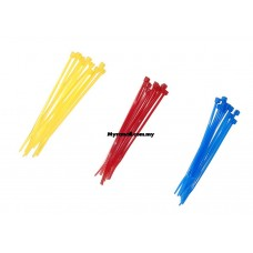 10pcs Zip Ties 14CM (Yellow Red Blue)
