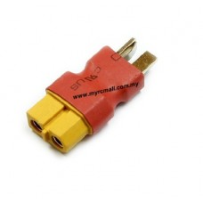 Male T Plug to Female XT60 Plug Converter for RC Lipo Battery