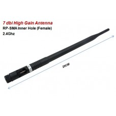 7dBi High Gain 2.4G Omni-Directional Wireless Antenna SMA Female
