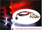 DIY 1:10 Size Nitro EP RC Car Buggy Truck Bright LED White Headlights Red Tail Lights Kit Set