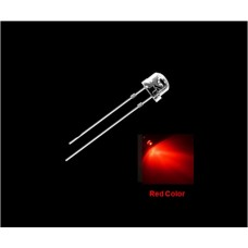 5mm Straw Hat Wide Angle LED Light Red 10pcs