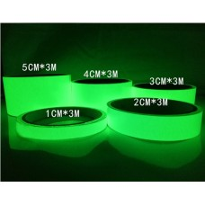 Luminous Glow in The Dark Single Sided Tape Sticker Yellow Green Color 30mm x 3 meter