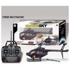 FeiLun FX070C 2.4G 4CH 6 Axis Gyro Flybarless MD500 Scale RC Helicopter - RTF