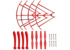 Syma X5HC X5HW RC Quadcopter Drone Spare Part 09 Propeller Landing Skid Guard Red