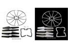 Syma X5C X5C-1 Spare Part 10 Propellers Landing Skid Guard Set
