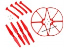 Syma X8C X8W X8G X8HC X8HW X8HG RC Quadcopter Propeller Landing Skid Guard Red