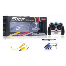 Syma S107G 3CH Mini RC Helicopter Ready to Fly Set Blue