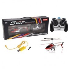 Syma S107G 3CH Mini RC Helicopter Ready to Fly Set Red