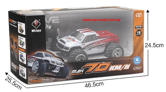 wltoys a979 b 4wd 2 4g 1 18 70km h high speed rc monster. Black Bedroom Furniture Sets. Home Design Ideas