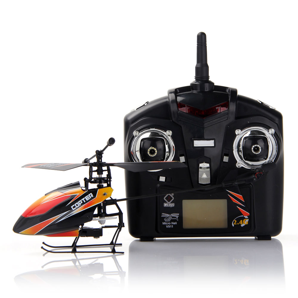 Wltoys V911 4ch 24g Micro Rc Helicopter Ready To Fly Set Orange Com Buy Wl V977 Spare Parts Receiver Circuit Board 1 X Lcd Display Remote Control 2 Main Blade Lipo Charger Usb Charging Cable Li Polymer Battery